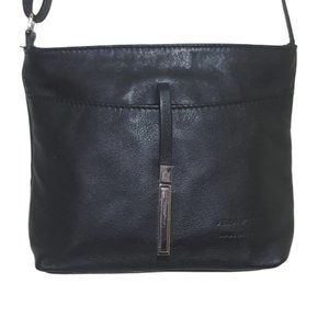 Italian Leather Crossbody Bag with Sleek Closure